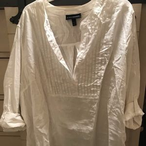 Lane Bryant linen shirt